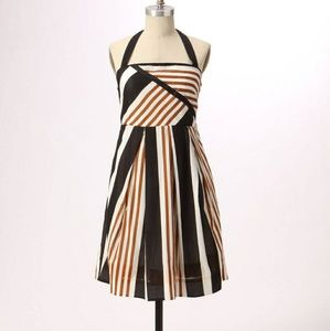 Anthropoligie Edges and Angles Striped Halter